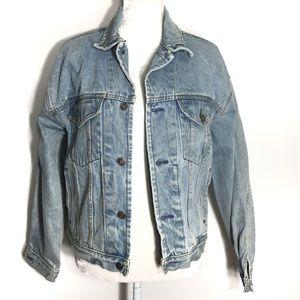 Gap • vintage oversized light wash denim jacket